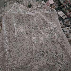 New Ladies Linea Donnatella Lace Nightgown L